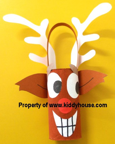 Craft Ideas Pinterest on Christmas Crafts For Kids Toilet Roll Reindeer Craft Back Holiday